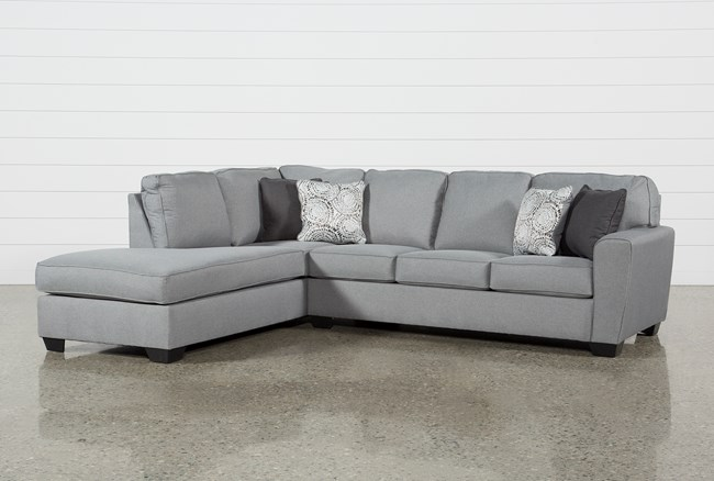 """Mcdade Ash 2 Piece 114"""" Sectional With Left Arm Facing Armless Chaise - 360"""