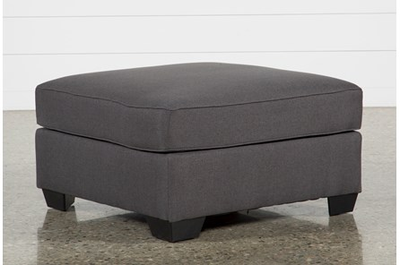 Mcdade Graphite Oversized Accent Ottoman - Main