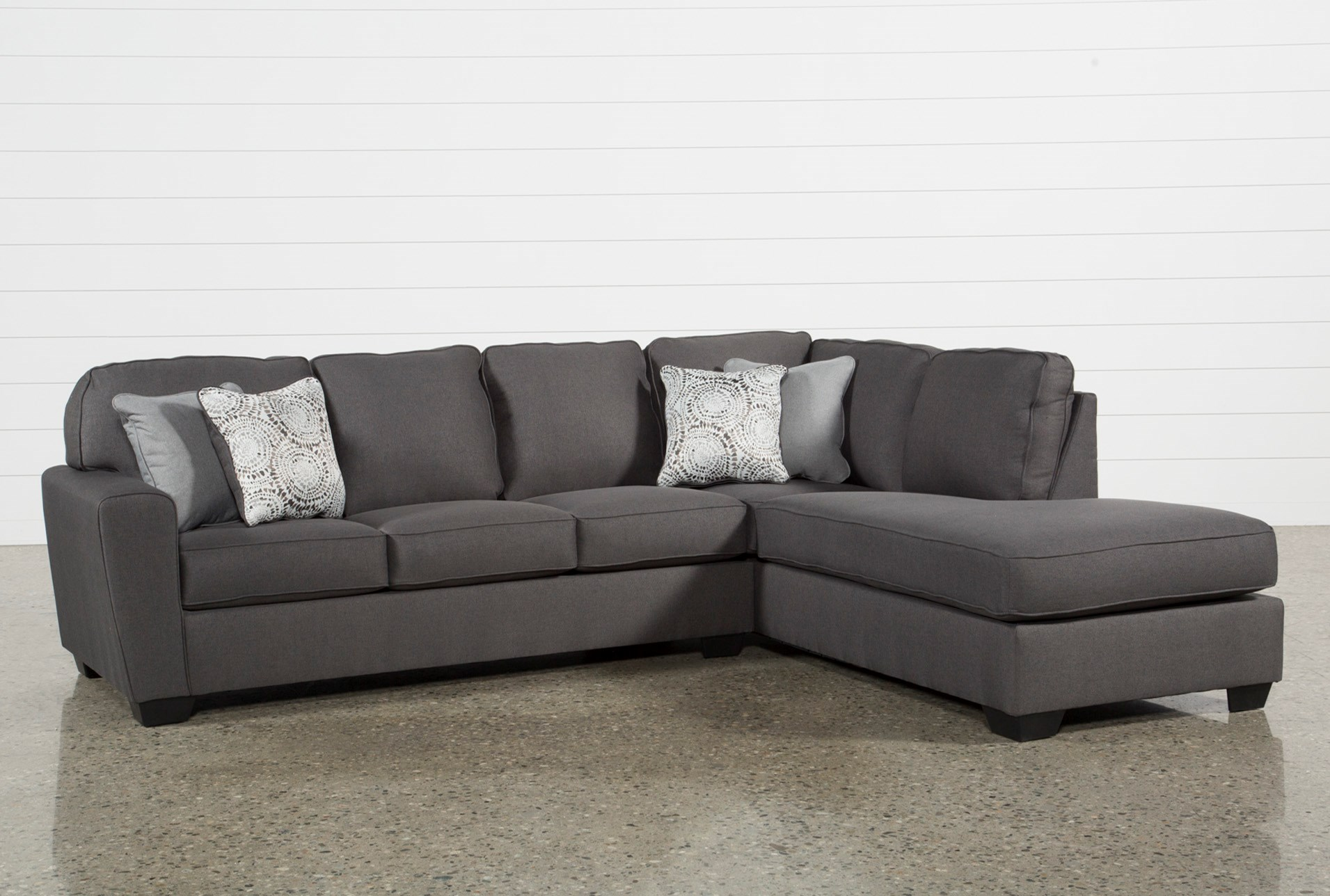 Mcdade Graphite 2 Piece Sectional with Right Arm Facing Chaise ...