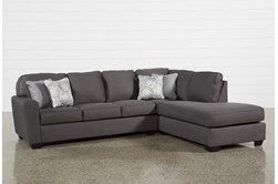 Mcdade Graphite 2 Piece Sectional With Right Arm Facing Armless Chaise