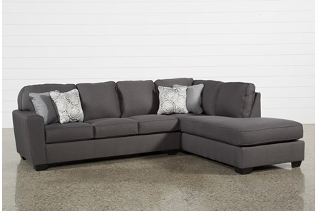 Mcdade Graphite 2 Piece Sectional with Right Arm Facing Chaise