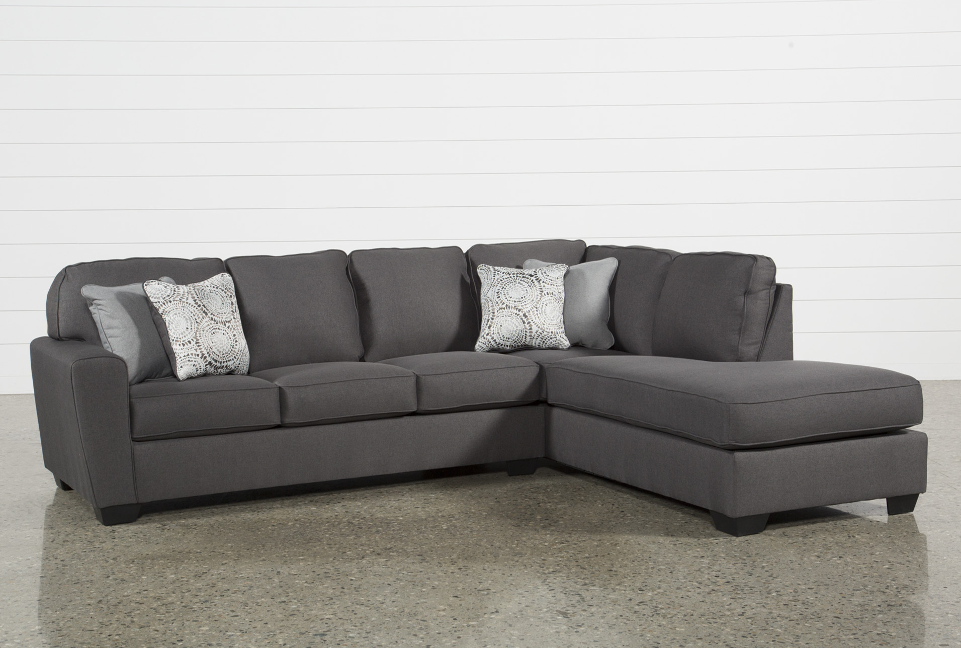 Mcdade Graphite 2 Piece Sectional W/Raf Chaise   360