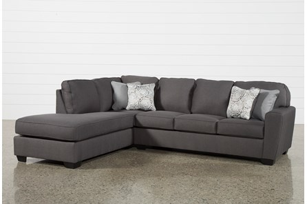Mcdade Graphite 2 Piece Sectional With Left Arm Facing Armless Chaise