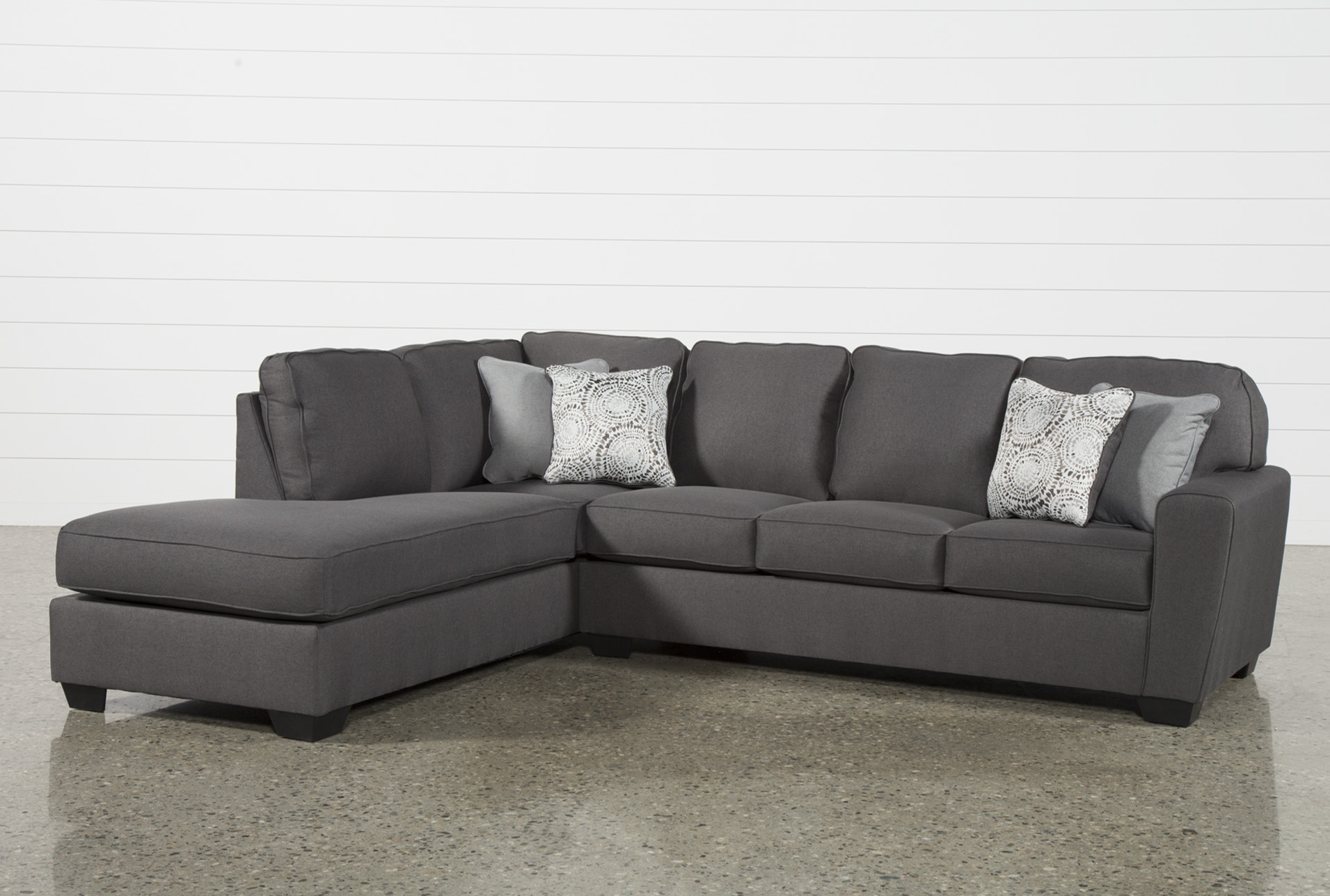 Mcdade Graphite 2 Piece Sectional W/Laf Chaise   360