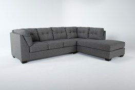 """Arrowmask Charcoal 2 Piece 116"""" Sectional with Right Arm Facing Chaise"""