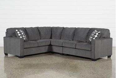 """Turdur 3 Piece 116"""" Sectional With Right Arm Facing Loveseat"""