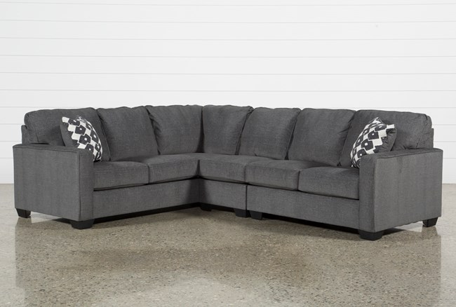 """Turdur 3 Piece 116"""" Sectional With Right Arm Facing Loveseat - 360"""