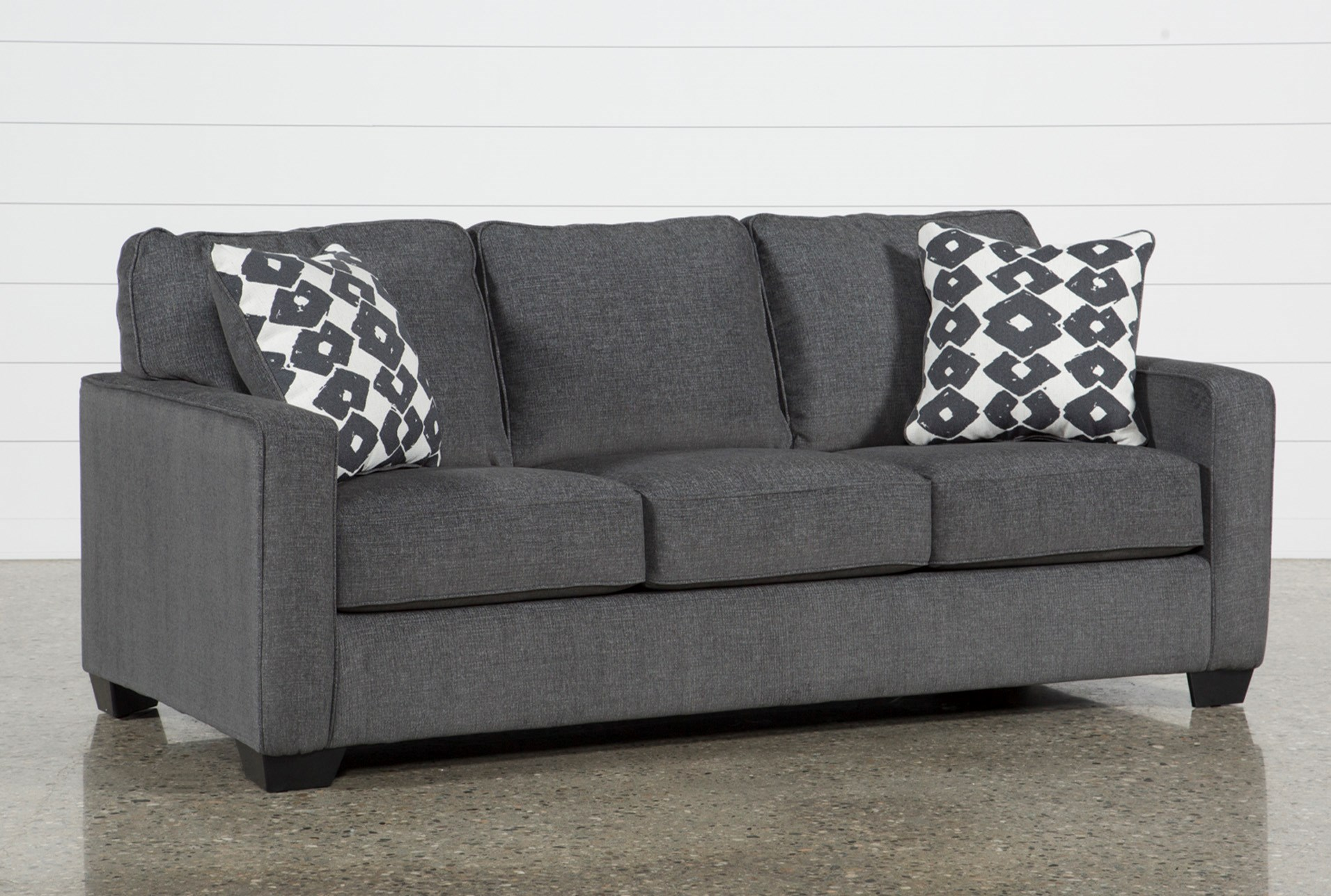 Sofa Beds Free Assembly With Delivery Living Spaces ~ Grey Leather Sleeper Sofa