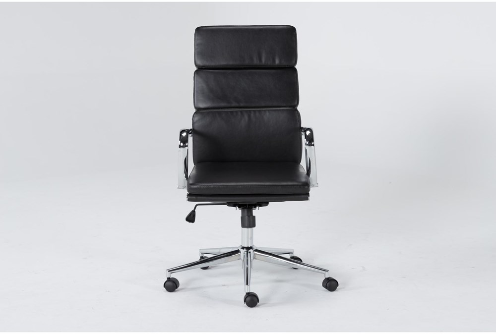 Moby Black High Back Rolling Office Chair