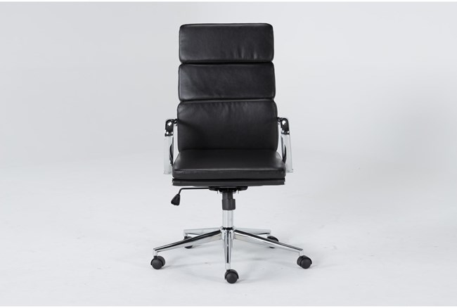 Moby Black High Back Rolling Office Chair - 360
