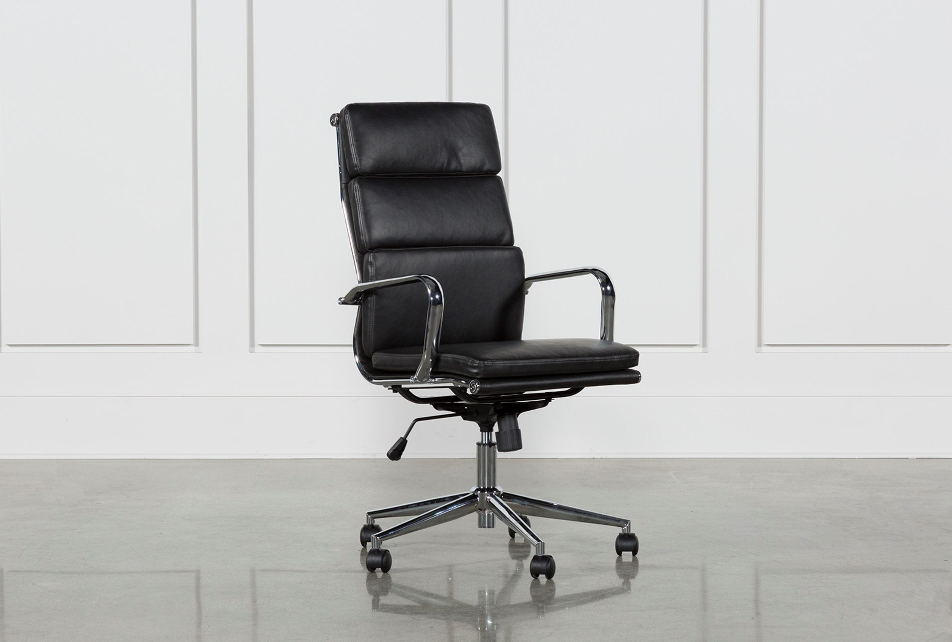 office chair back view. Moby Black High Back Office Chair (Qty: 1) Has Been Successfully Added To Your Cart. View H