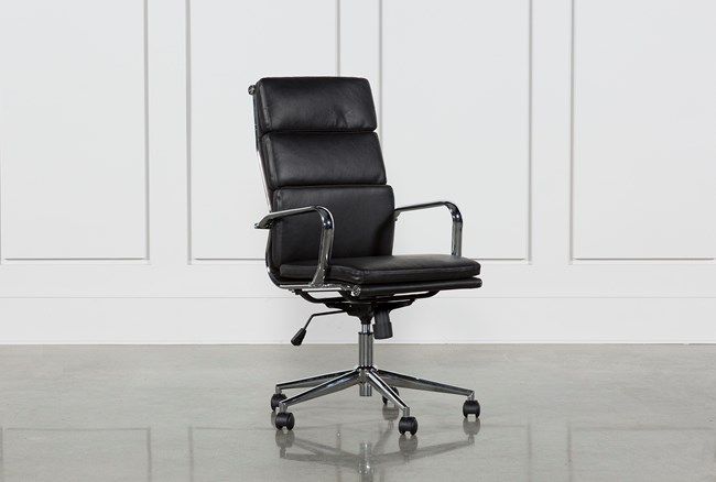 Moby Black High Back Office Chair - 360