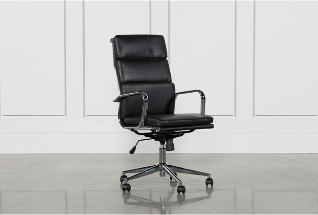 Moby Black High Back Office Chair 360