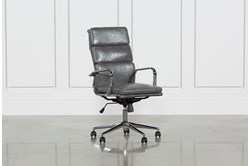 Moby Grey High Back Desk Chair