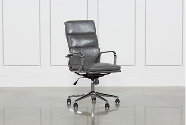 Moby Grey High Back Rolling Office Chair