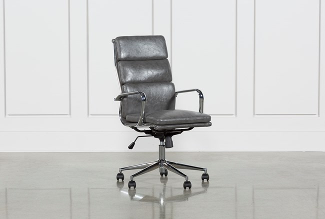 Moby Grey High Back Rolling Office Chair - 360
