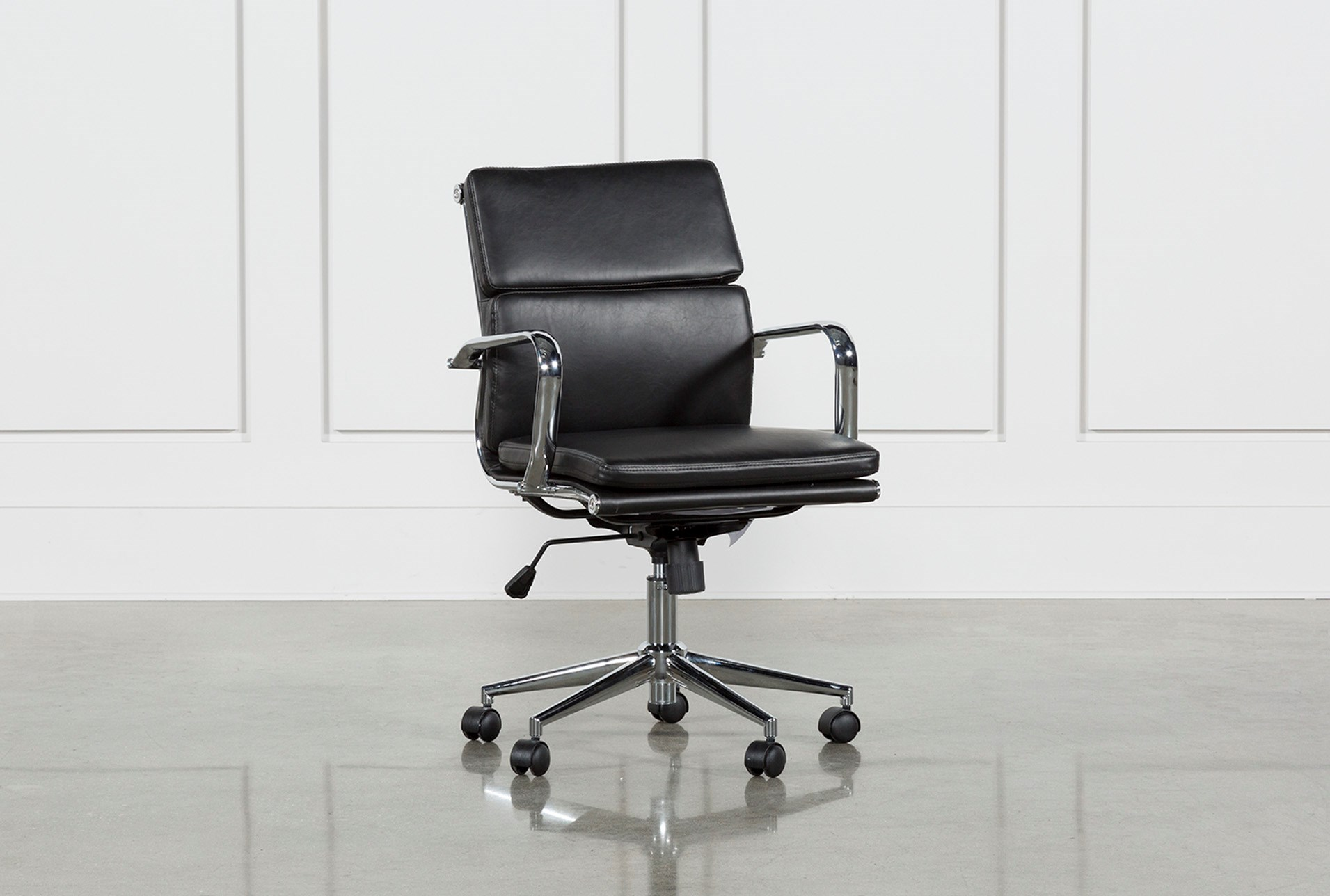 office chair back view. Moby Black Low Back Office Chair (Qty: 1) Has Been Successfully Added To Your Cart. View A