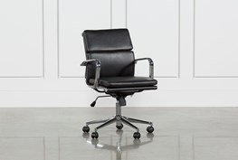 Moby Black Low Back Office Chair