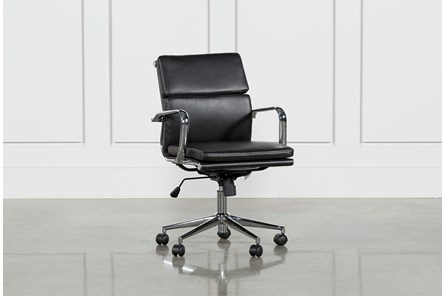Moby Black Low Back Office Chair - Main