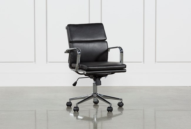 Moby Black Low Back Office Chair - 360