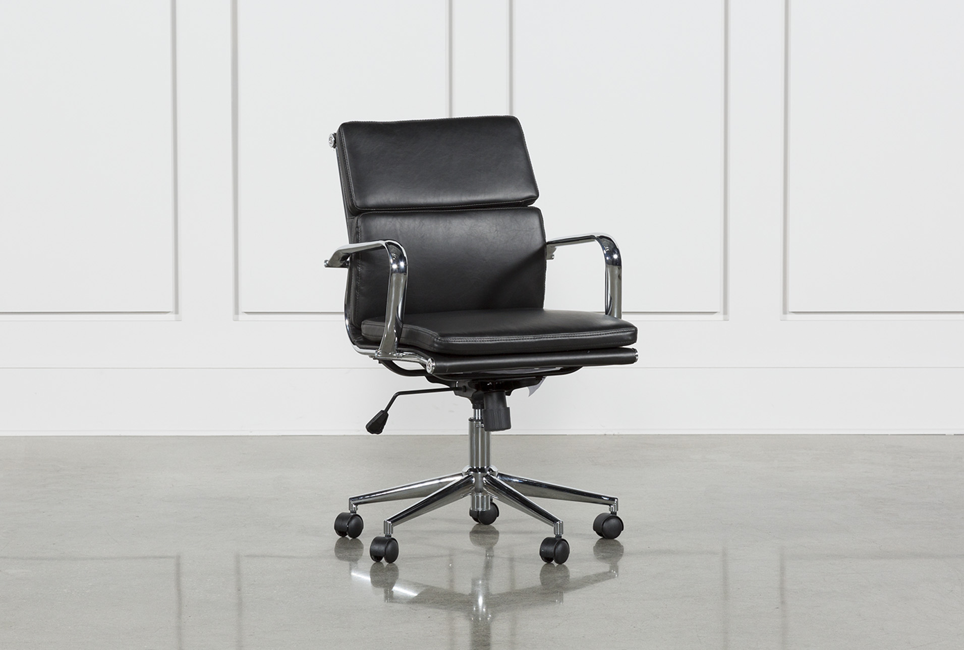 Moby Black Low Back Office Chair (Qty 1) has been successfully added to your Cart. & Moby Black Low Back Office Chair | Living Spaces