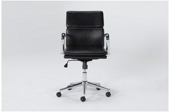 Moby Black Low Back Desk Chair