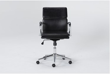 Moby Black Low Back Rolling Office Chair