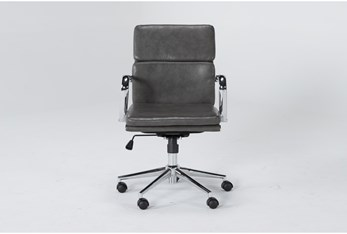 Moby Grey Low Back Rolling Office Chair