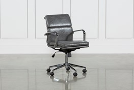 Moby Grey Low Back Office Chair