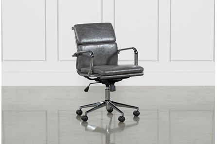 Moby Grey Low Back Office Chair - Main