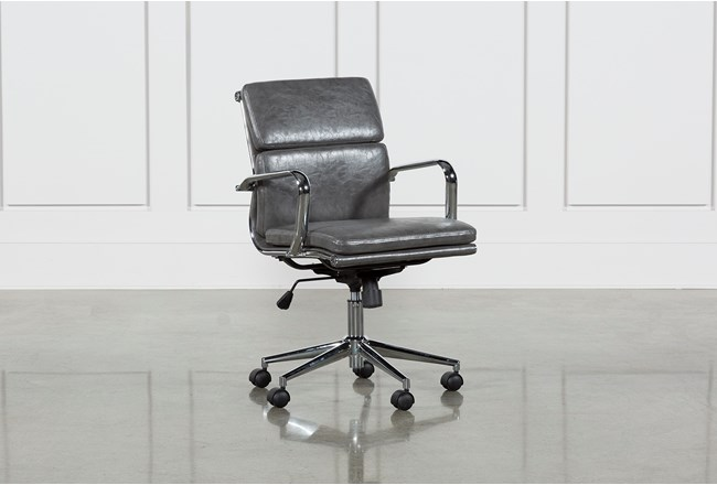 Moby Grey Low Back Office Chair - 360