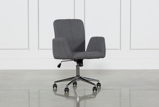 Calder Dark Grey Office Chair - 360
