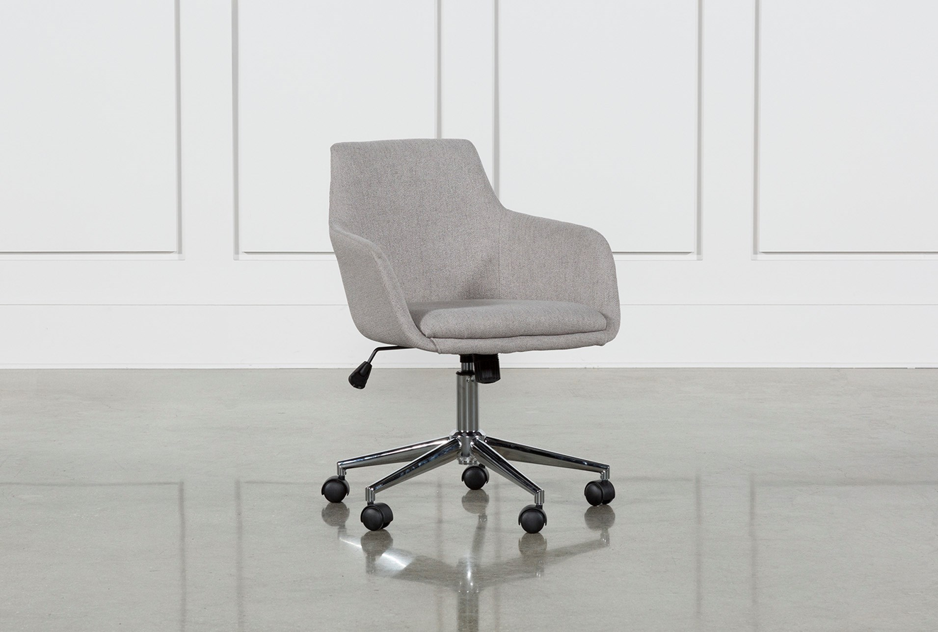 Emery Light Grey Office Chair Living Spaces