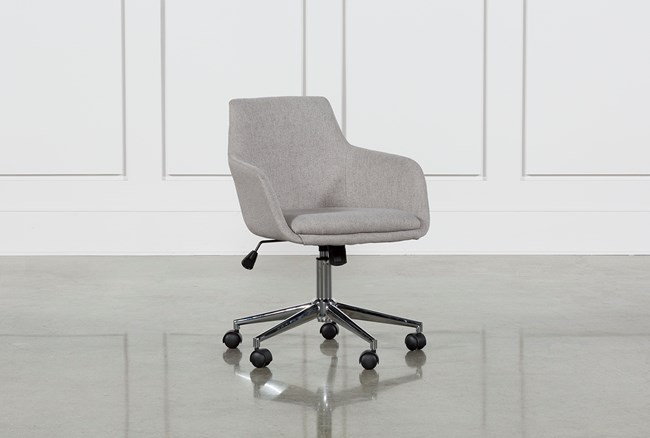 Emery Light Grey Office Chair - 360