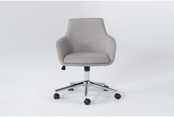 Emery Light Grey Rolling Office Chair