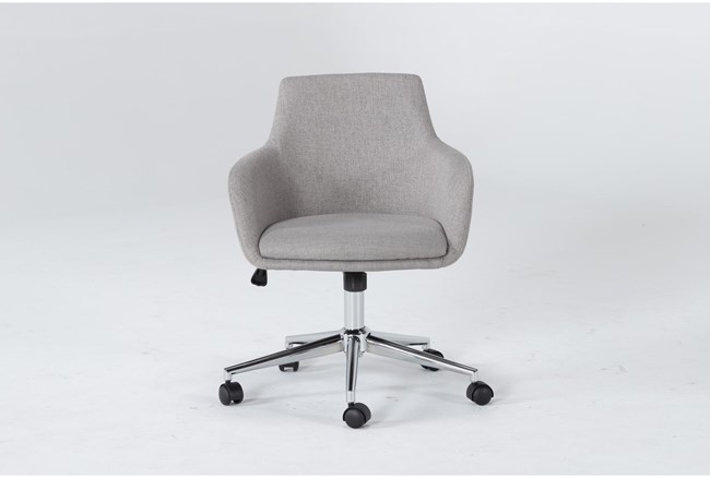 Emery Light Grey Rolling Office Chair - 360