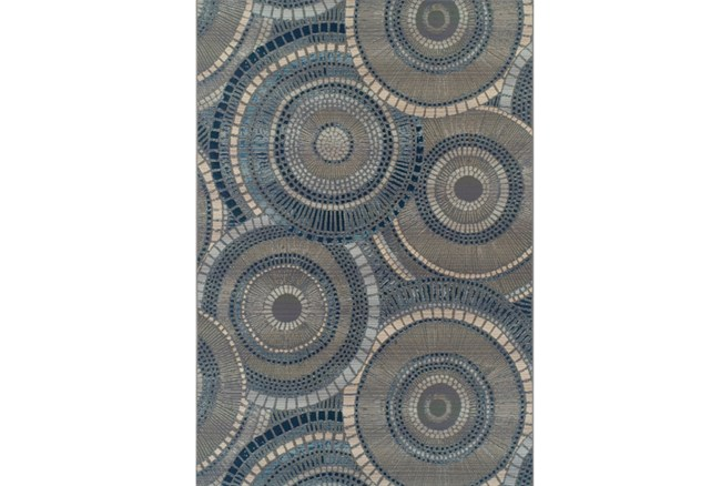 61X84 Outdoor Rug-Blue Pinwheel - 360