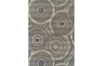 61X84 Outdoor Rug-Grey Pinwheel