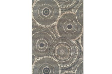 61X84 Outdoor Rug-Grey Pinwheel - Main