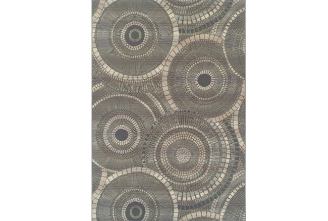 61X84 Outdoor Rug-Grey Pinwheel - 360