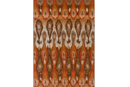 61X84 Outdoor Rug-Orange Eyelet