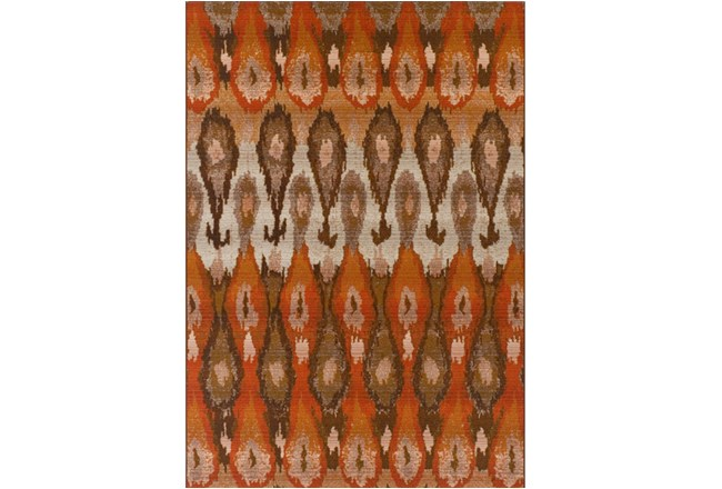 61X84 Outdoor Rug-Orange Eyelet - 360