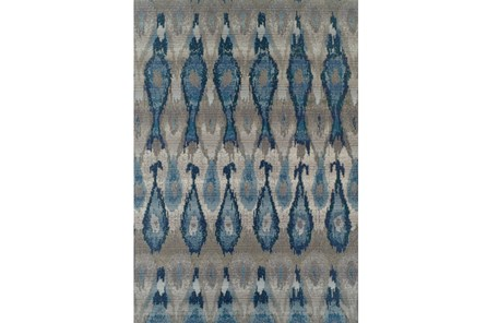 39X61 Outdoor Rug-Blue Eyelet