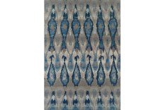 61X84 Outdoor Rug-Blue Eyelet