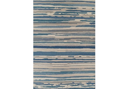 39X61 Outdoor Rug-Blue Waves