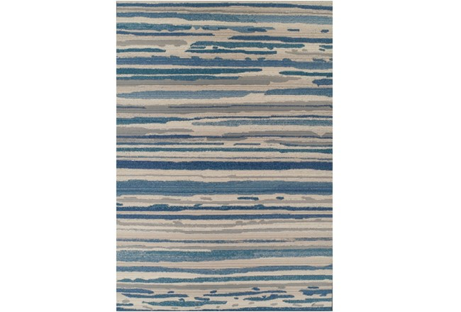 61X84 Outdoor Rug-Blue Waves - 360