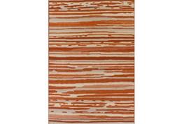 39X61 Outdoor Rug-Orange Waves