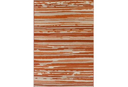 39X61 Outdoor Rug-Orange Waves