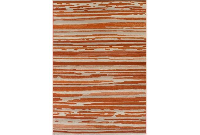 39X61 Outdoor Rug-Orange Waves - 360