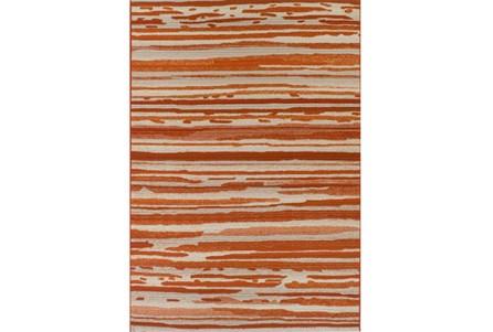 61X84 Outdoor Rug-Orange Waves
